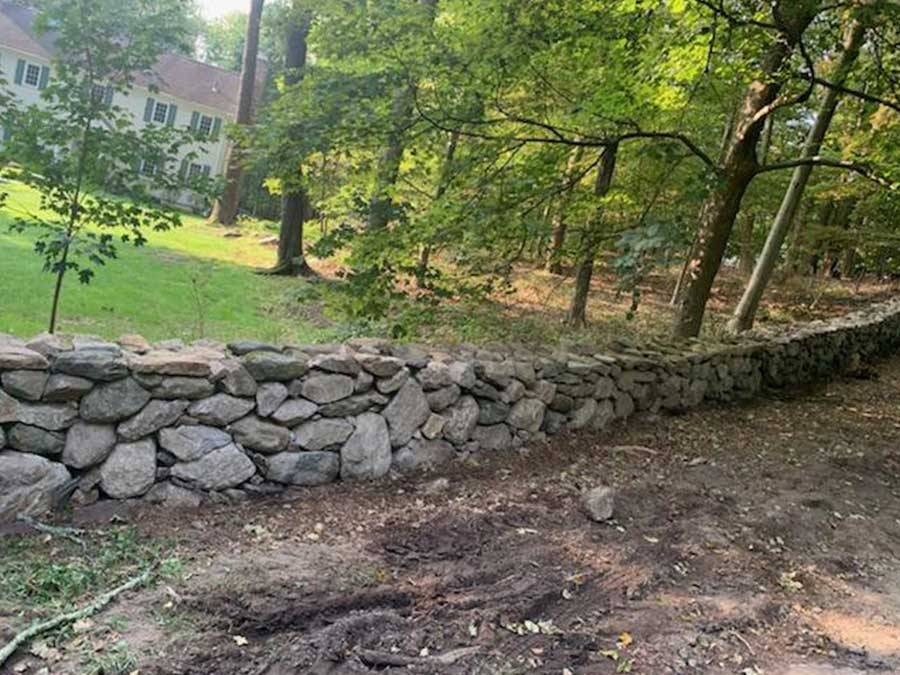 Installation of Stone Wall | A-Z Landscaping