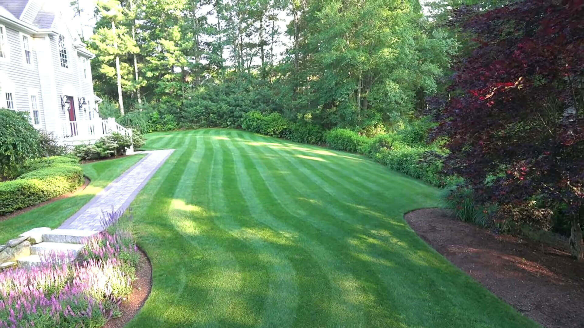 During Aerating Lawns in Ridgefield CT - A-Z Landscaping LLC