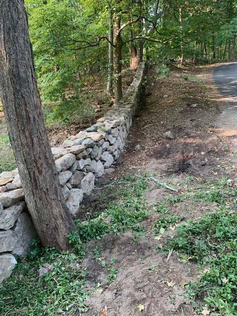 Stone Wall and Trees | A-Z Landscaping