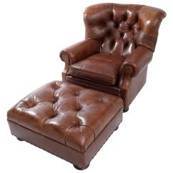 Ralph Lauren Chair Tot Spot Folding Iconic Writer S And Ottoman In High Quality Brown Leathera For Sale
