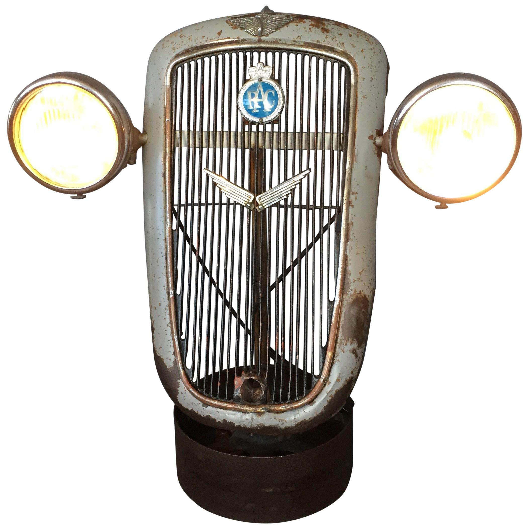 1930s Austin 10 Grille with Lucas King of the Road Head