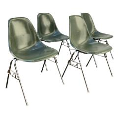 Herman Miller Stacking Chairs Evac Chair 600h 1950 Ray And Charles Eames For Set Dss Fiberglass Sale