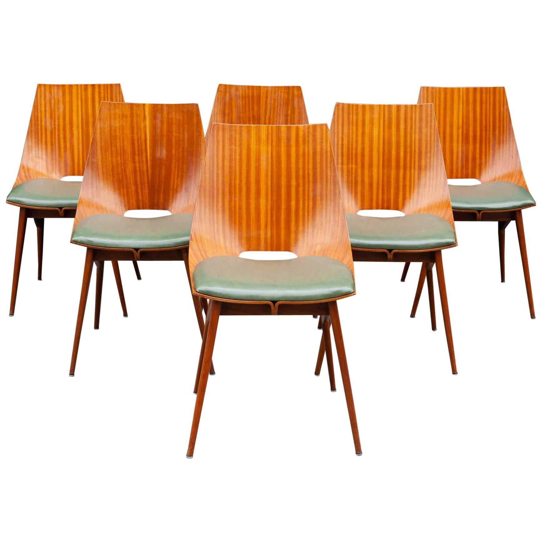 bentwood dining chair folding with armrest 1950s italian teak chairs for sale at 1stdibs