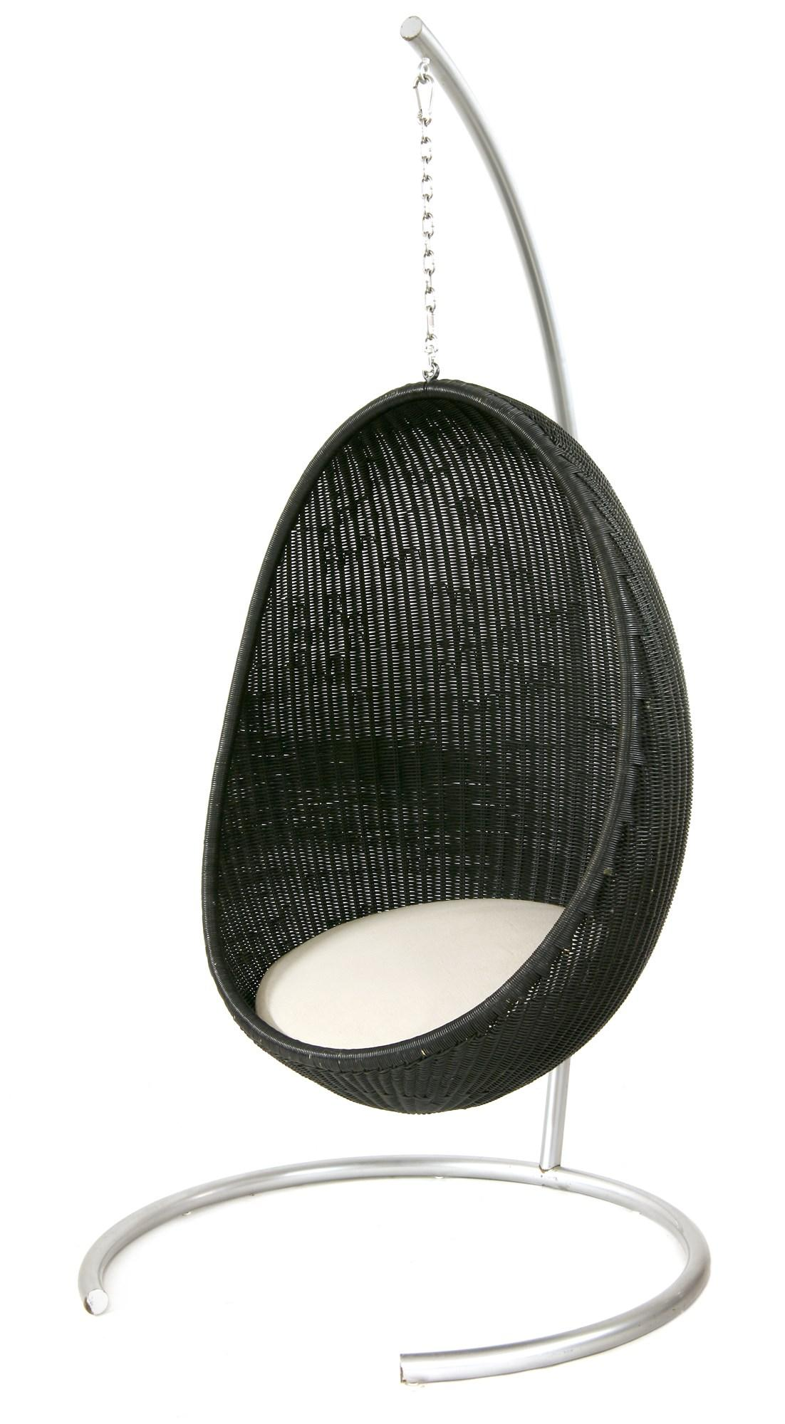 Egg Chair For Sale 1950s Nanna Jorgen Ditzel Design Hanging Black Lacquered Rattan Egg Chair