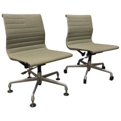 Office Chair Without Arms Pedicure Wholesale 1958 Ray And Charles Eames Fabric Adjust Tilt 2 4 Wheels