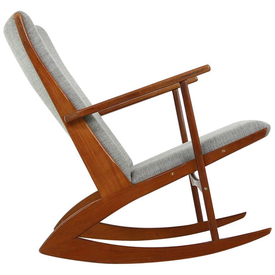 danish modern rocking chair bishops 1960s soren georg jensen teak mod 97 lounge rocker for