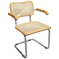Marcel Breuer Cesca Chair With Armrests Porch Lounge 1970s Cane And Chrome For Sale At 1stdibs