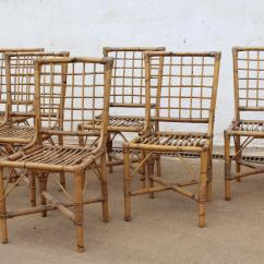 Bamboo Chairs For Sale Sling Chaise Lounge 1970s Set Of Six Spanish At 1stdibs In Good Condition Malaga Es