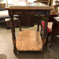 19th Century French Rustic Two-Tier Oak Pastry Table with ...