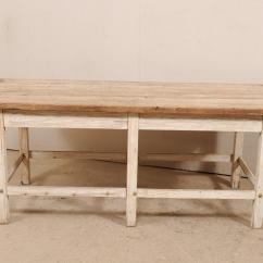 Kitchen Workbench Corbels 19th Century French Wood Island Table At 1stdibs Country For Sale