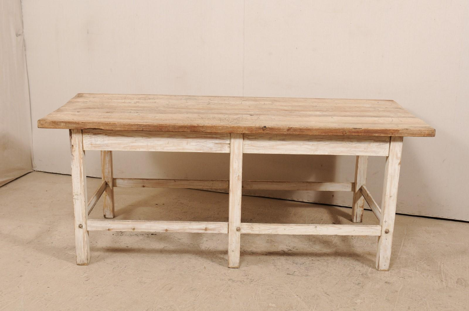 kitchen workbench islands portable 19th century french wood island table at 1stdibs country for sale