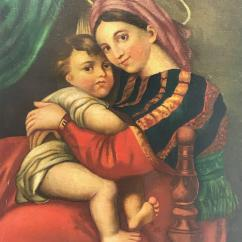 Madonna Of The Chair Conant Ball Chairs 19th Century Italian After Raphael Oil On Canvas Painting For Sale At 1stdibs