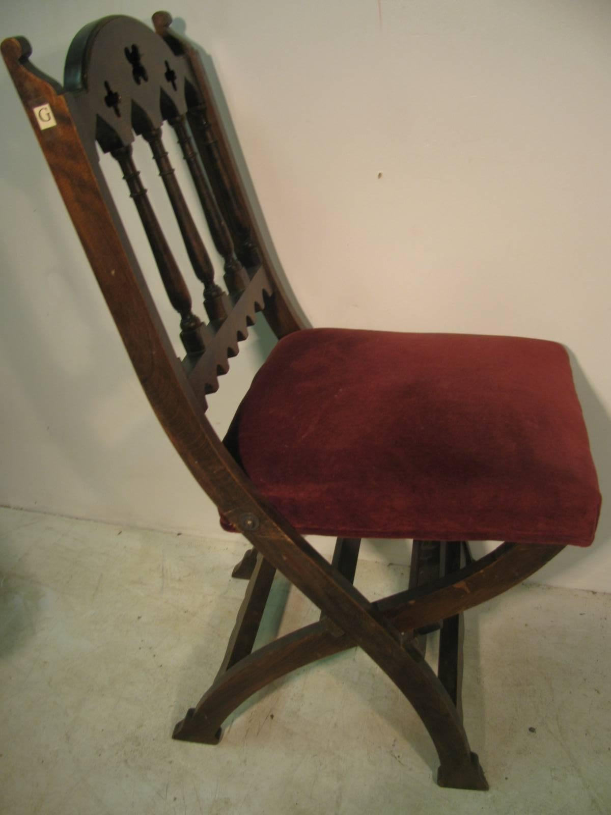 wooden church choir chairs personalized director chair 19th century set of four gothic style for sale at 1stdibs