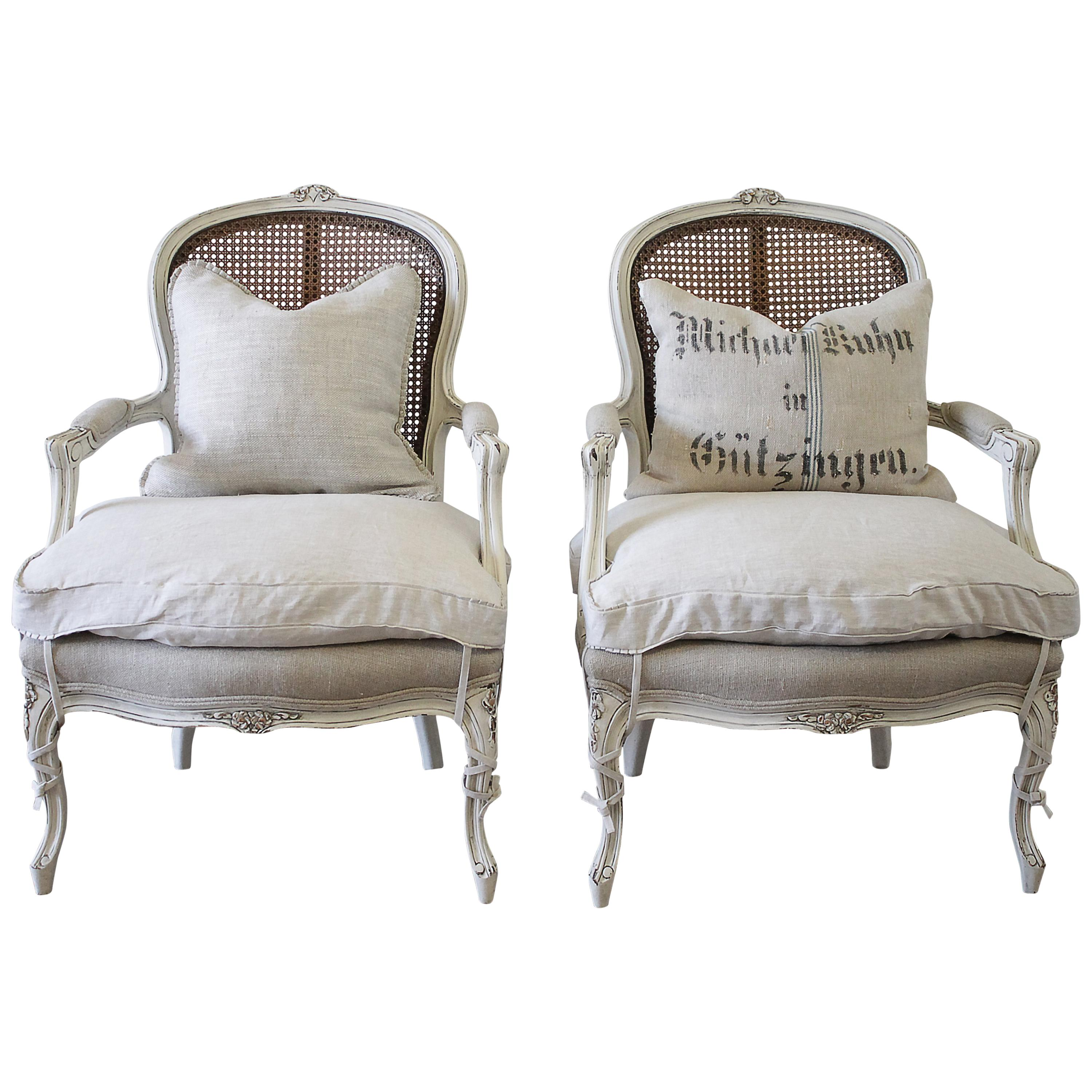 cane back chairs for sale wicker new zealand 20th century pair of painted louis xv style