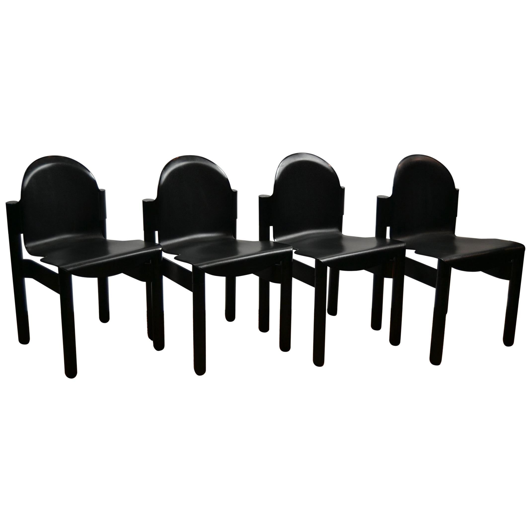 Flex Chairs 4 Thonet Stackable Black Flex Chairs By Gerd Lange Western Germany