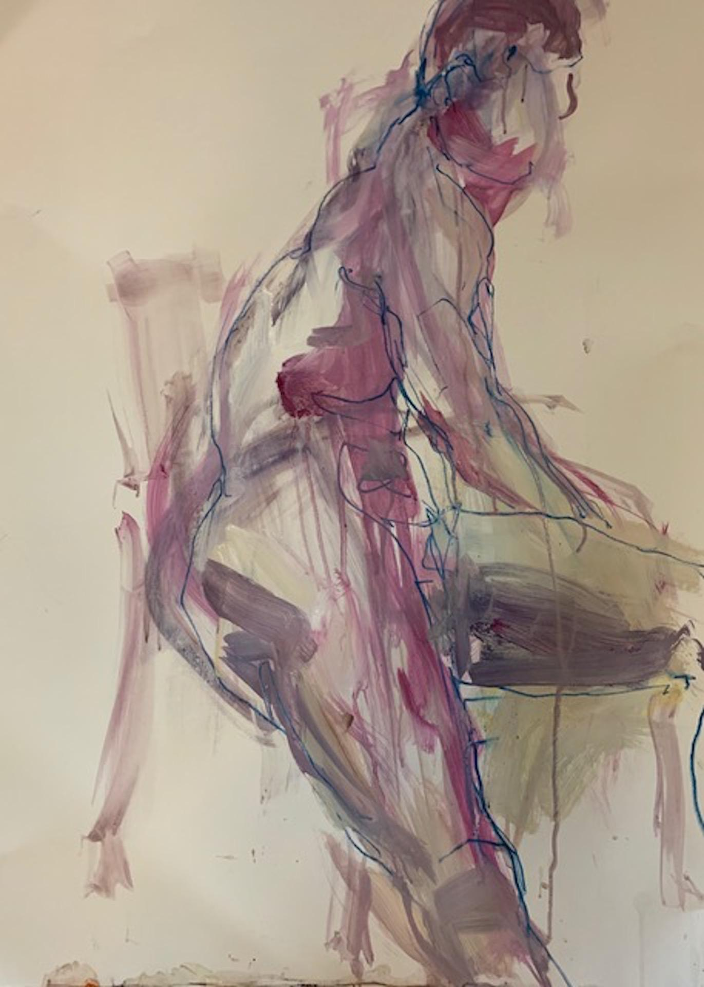 Figurative Art : figurative, Judith, Brenner, Brenner,, Seated, Original, Painting,, Figurative, 1stDibs