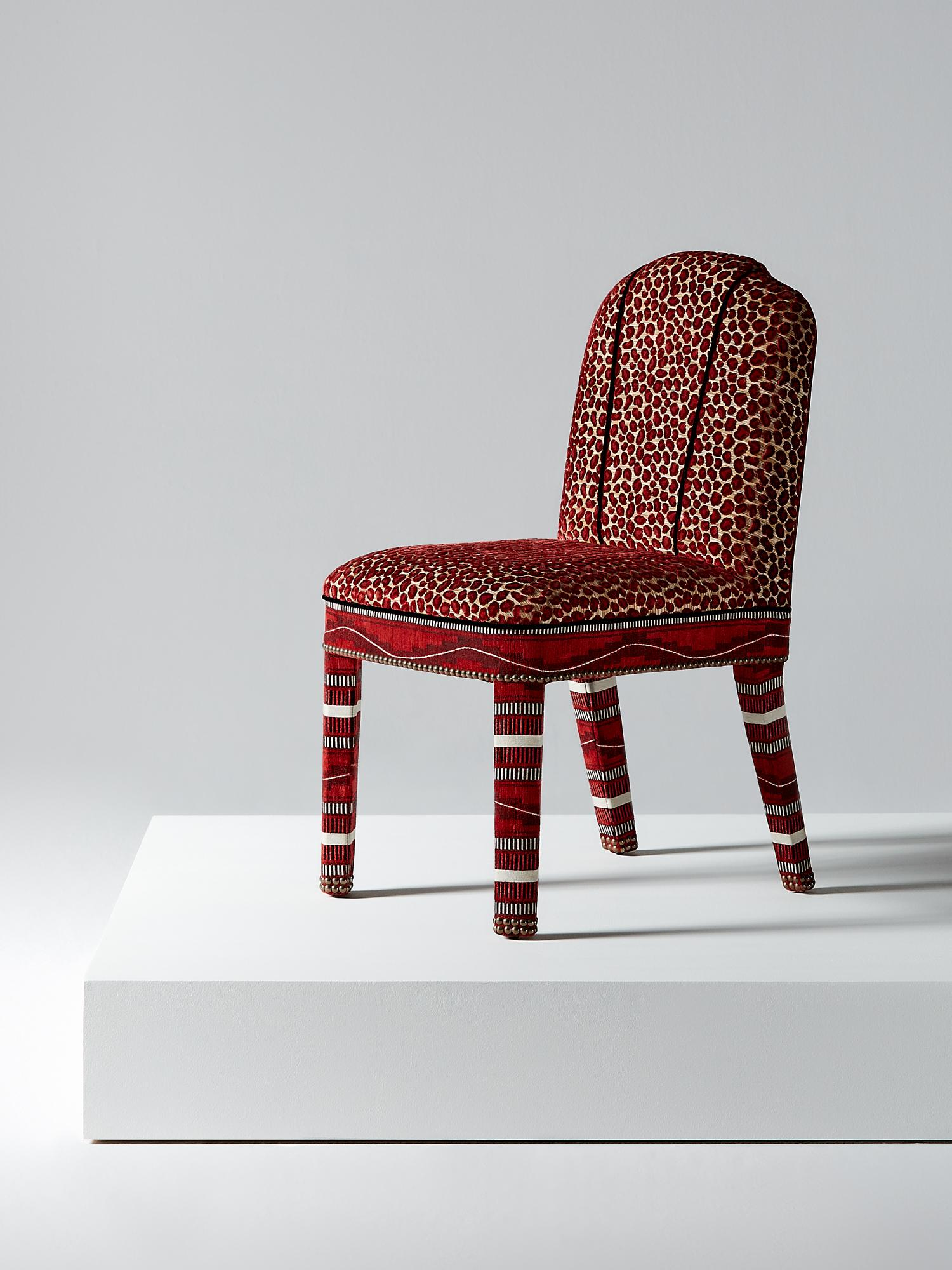 Red Upholstered Dining Chair  Smartvradarcom