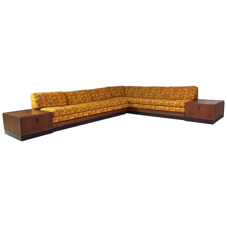 adrian pearsall craft associates mid century modern sectional sofa