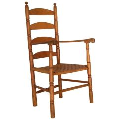 Shaker Ladder Back Chair Parsons Slipcover Patterns American Armchair Early 19th Century For Sale At