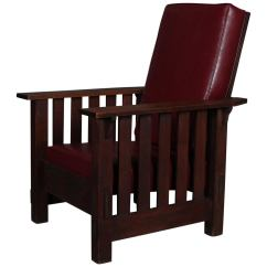 Arts And Crafts Style Chair Special Needs Bath Antique Stickley School Oak Morris Circa 1910 For Sale