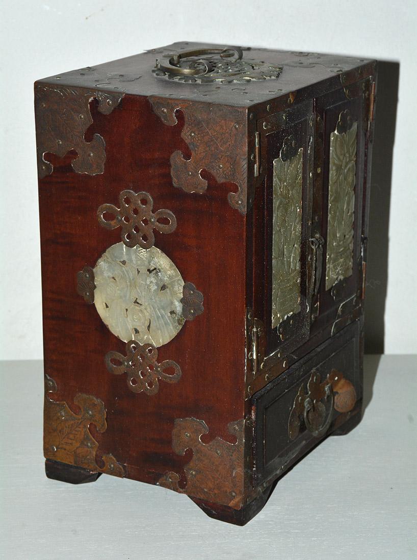 Jade Jewelry Box : jewelry, Antique, Chinese, Jewelry, Inset, 1stDibs