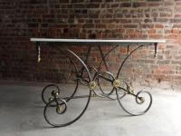 Antique French Pastry Table Marble-Top Large Butchers 19th ...