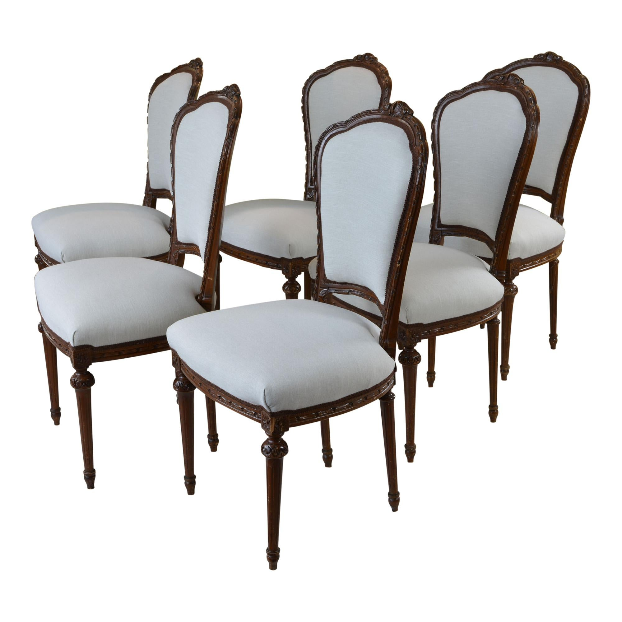 at home chairs hanging chair gold coast antique french style dining taupe set of six for sale 1stdibs nice 6 were found a fabulous new england estate