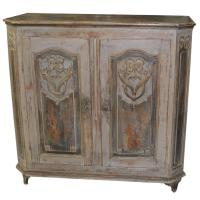 Antique German Painted Buffet Cabinet For Sale at 1stdibs