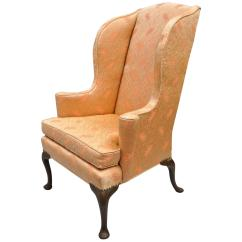 Antique Queen Anne Chair Office Adjustable Arms Wingback Armchair Rolled For Sale At