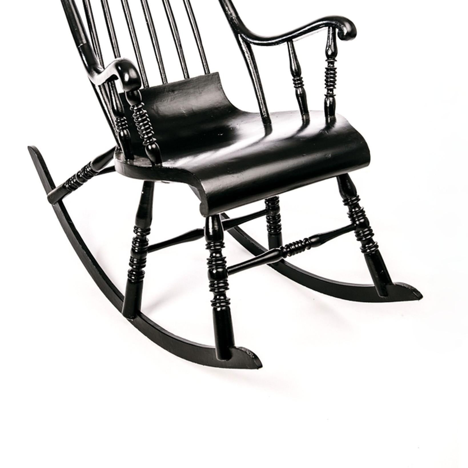 rocker chair sg chairman mao antique swedish rocking in black painted pine at 1stdibs good condition for sale singapore