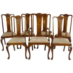 Antique Queen Anne Chair French Bedroom Ebay Walnut Chairs 7 Dining Scotland 1920 B1196