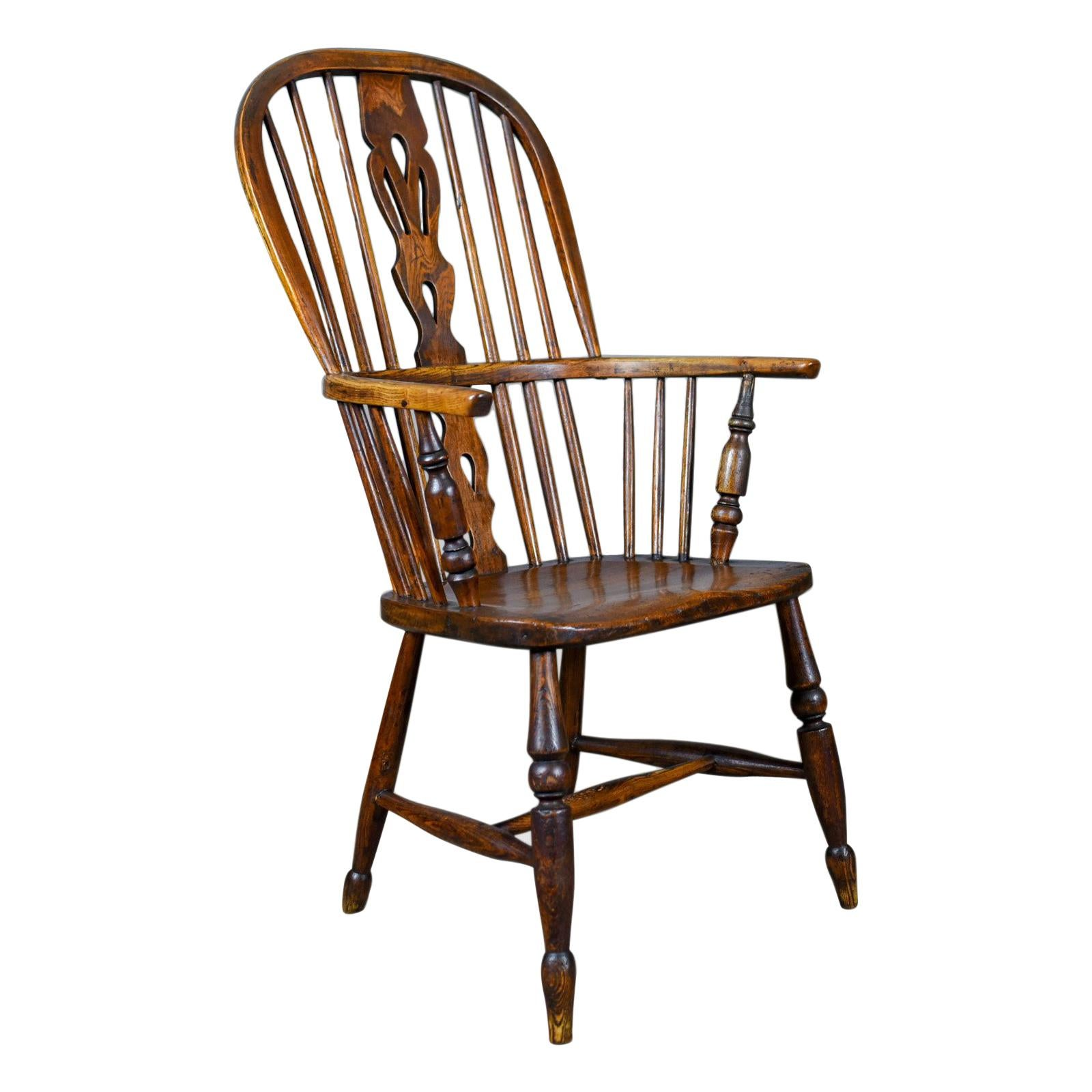 antique windsor chair desk vanity armchair english victorian stick back elbow circa 1860 for sale at 1stdibs