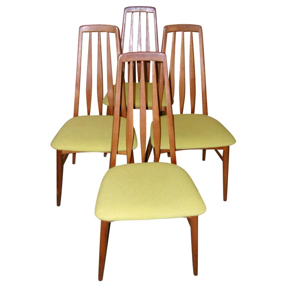 danish modern dining chair old metal chairs set of four tall back room for sale at