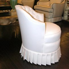 Upholstered Stacking Chairs Green Arm Chair White Cotton Vanity With Pleated Skirt At 1stdibs