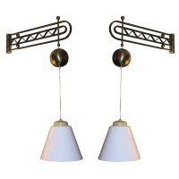 large swingarm sconces by Royal lumiere at 1stdibs