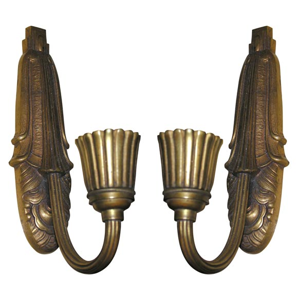 French Art Deco WallSconces For Sale at 1stdibs