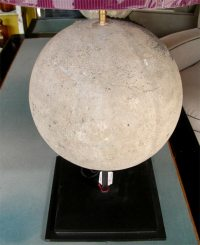 Two Lamps with Stone Sphere For Sale at 1stdibs