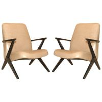Swedish Leather Arm Chairs at 1stdibs