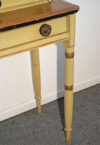 19THC ORIGINAL PAINT DECORATED NEW ENGLAND DRESSING TABLE ...