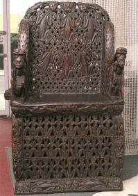 MONUMENTAL SPECTACULAR ANTIQUE ROYAL CHAIR (FOR ROYALTY ...