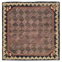 American Hooked Rug at 1stdibs