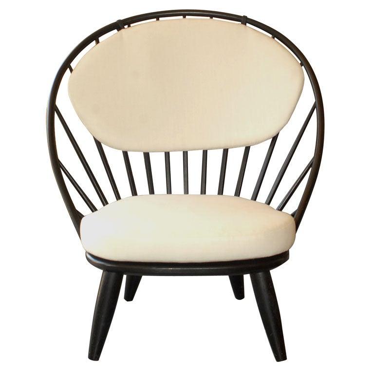 High Back Swedish Modernist Lounge Chair at 1stdibs