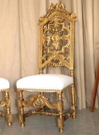 Pair of 19th c. Italian Throne Chairs at 1stdibs