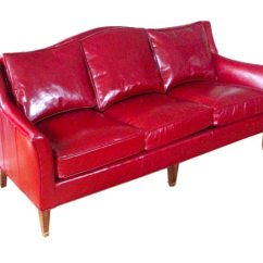 Red Leather Chair And Ottoman Chinese Chippendale Dining Chairs Cherry Sofa At 1stdibs