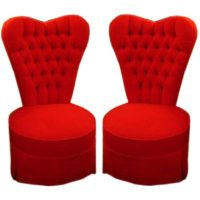 Pair of Heart Shaped Bedroom Chairs at 1stdibs
