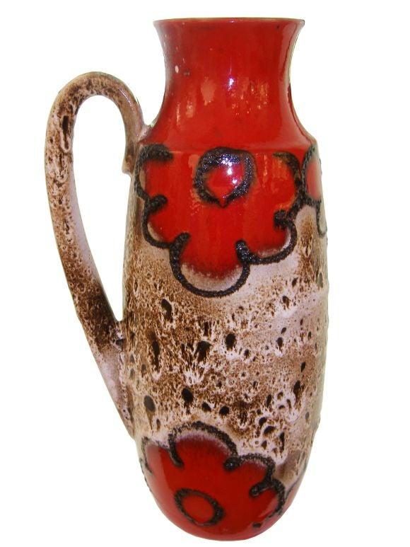 Large West German Ceramic Vessel By Scheurich Keramik For
