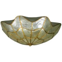 Capiz shell flushmount at 1stdibs