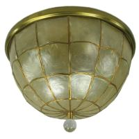 Capiz shell dome shaped flushmount at 1stdibs