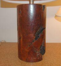 Burl Wood Table Lamp at 1stdibs