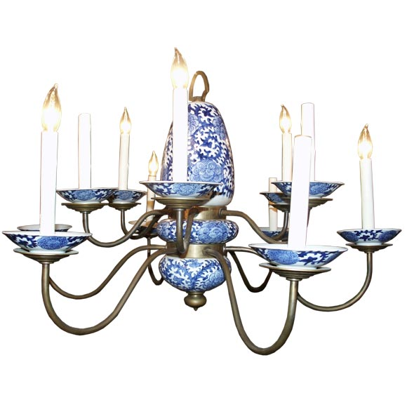 Blue And White Chandelier Thejots Net